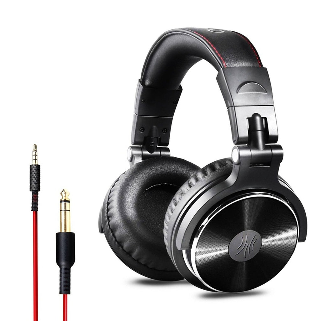 Wired Headphones Hifi Computer Headset With Microphone 3.5mm 6.3mm ...