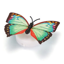10 pcs LED Colorful Changing Butterfly Night Light Lamp Stick-on Butterfly Lights for Home Room Party Desk Wall  Xmas Decor - 4D's T&D Inc