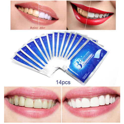Teeth Whitening Strips Dental Bleaching Tools Oral Hygiene Care 28Pcs 14 Pairs 3D White Gel Teeth Strips Whitening  https://4ds-t-d-inc.myshopify.com