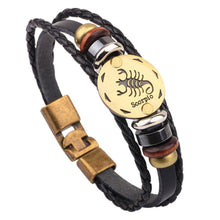 Unisex Bracelet 12 Constellations Fashion Jewelry Leather Bracelet Personality https://4ds-t-d-inc.myshopify.com