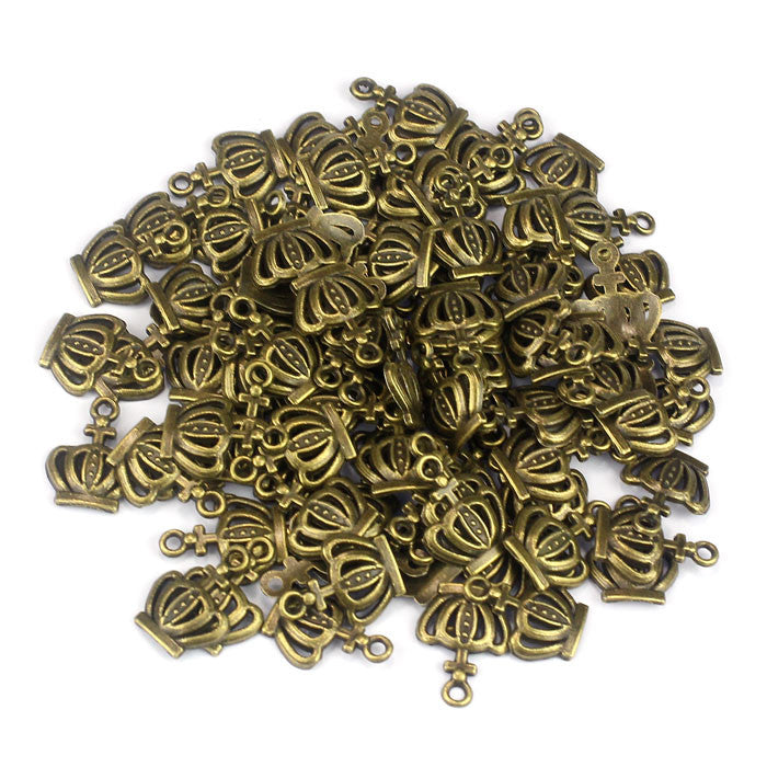 100PC Fashion Vintage Decoration Bronzed Crown Ornaments Accessories - 4D's T&D Inc