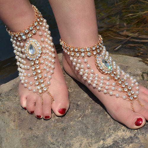 1PC Female Simple Fashion Anklets - Coin Fringed Anklets.  Item # 4DS-145AFA   Price $35.70
