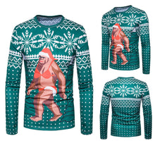 Men Autumn Winter Xmas Christmas PrintingTop Men's Long-sleeved T-shirt Blouse - 4D's T&D Inc