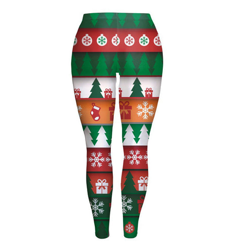 Women Fashion Lady Skinny Christmas Printed Stretchy Pants Leggings.  Item # 4DS-137SPL  https://4DS-T-D-Inc.myshopify.com
