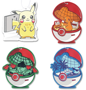 Pokemon Air Freshener 4 Pack