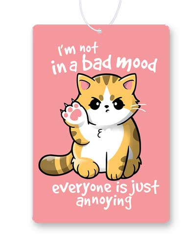 Bad Mood Cat Air Freshener