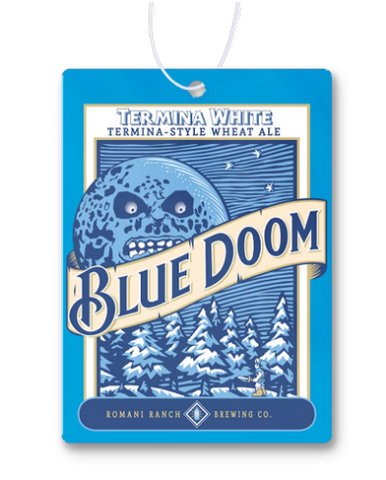 Blue Doom Air Freshener