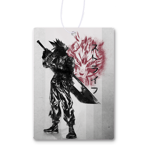 Crimson Ex-Soldier Air Freshener