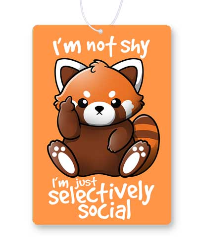 Shy Red Panda Air Freshener