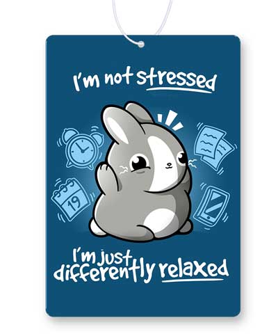 Stressed Bunny Air Freshener