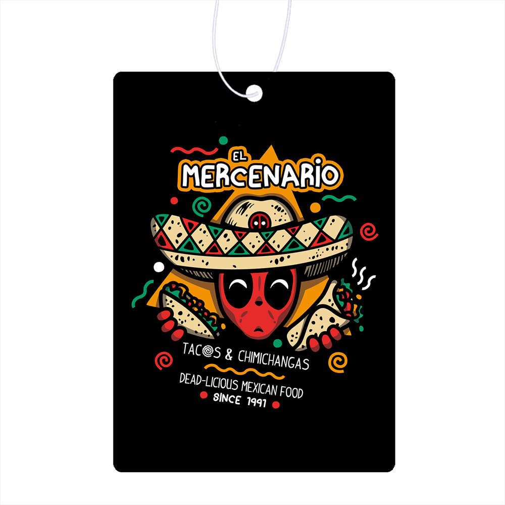 El Mercenario Mexican Food Air Freshener