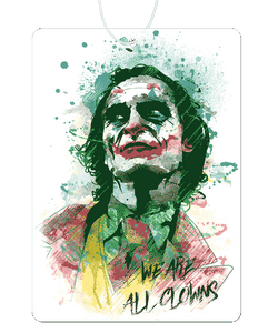 Watercolor Clown Air Freshener