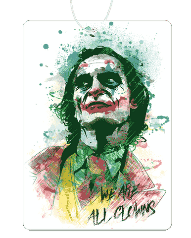 Joker Watercolor Air Freshener