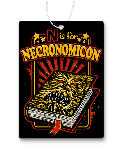 N Is For Necronomicon Air Freshener