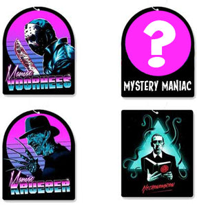Maniac Retro Horror Air Freshener 4 Pack