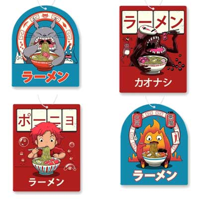 Studio Ghibli Air Freshener 4 Pack