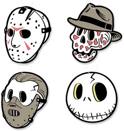 Horror Forever Air Freshener 4 Pack