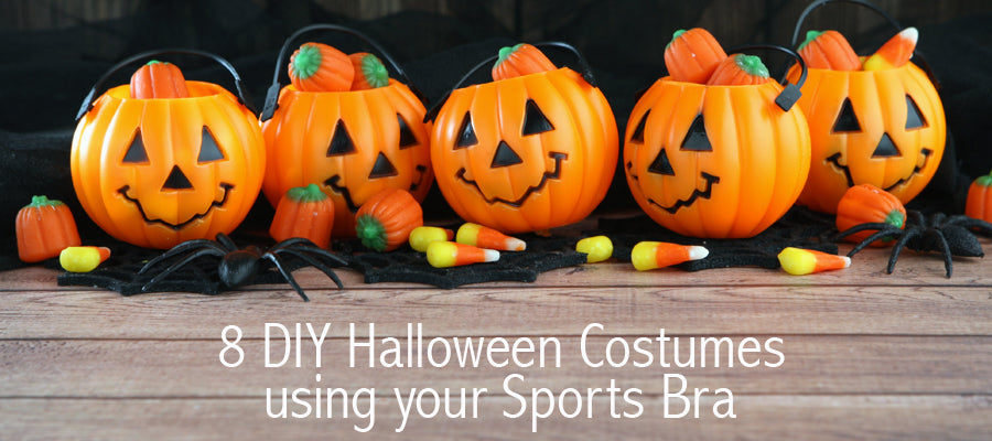 8 More DIY Halloween Costumes using a Sports Bra