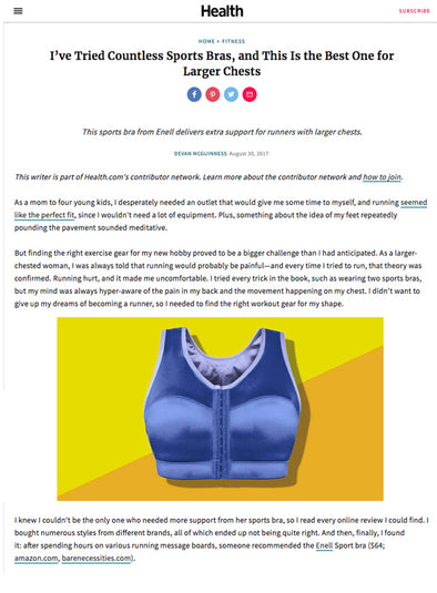 Health.com - I've Tried Countless Sports Bras, and This Is the Best One for Larger Chests