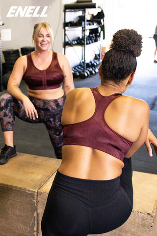 New Enell Sports Bra Color Burgundy