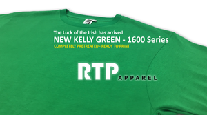 New Kelly Green Ready To Print Shirt Now Available