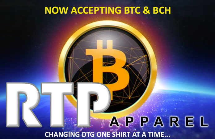 RTP Apparel Accepting Bitcoin and Bitcoin Cash On On-Line Store