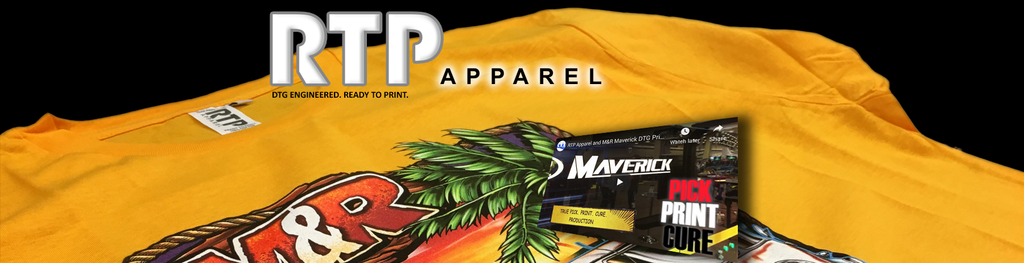 New M&R DTG Printer with RTP Apparel is a Production Machine