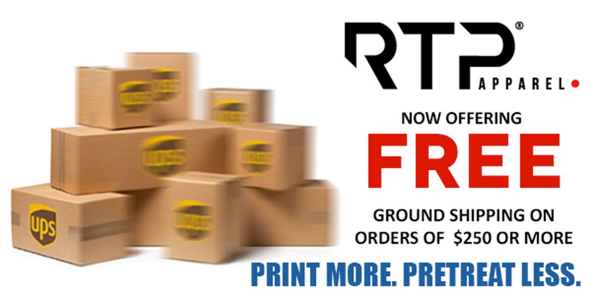RTP Apparel Now Offers FREE Shipping