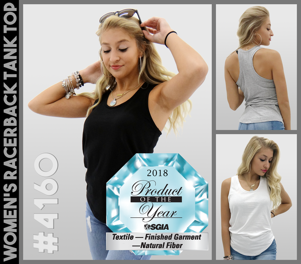 RTP Apparel Women's Racerback Tank Top Receives SGIA Product of the Year Award