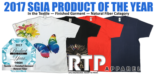 RTP Apparel Wins SGIA Product of the Year Award 2017