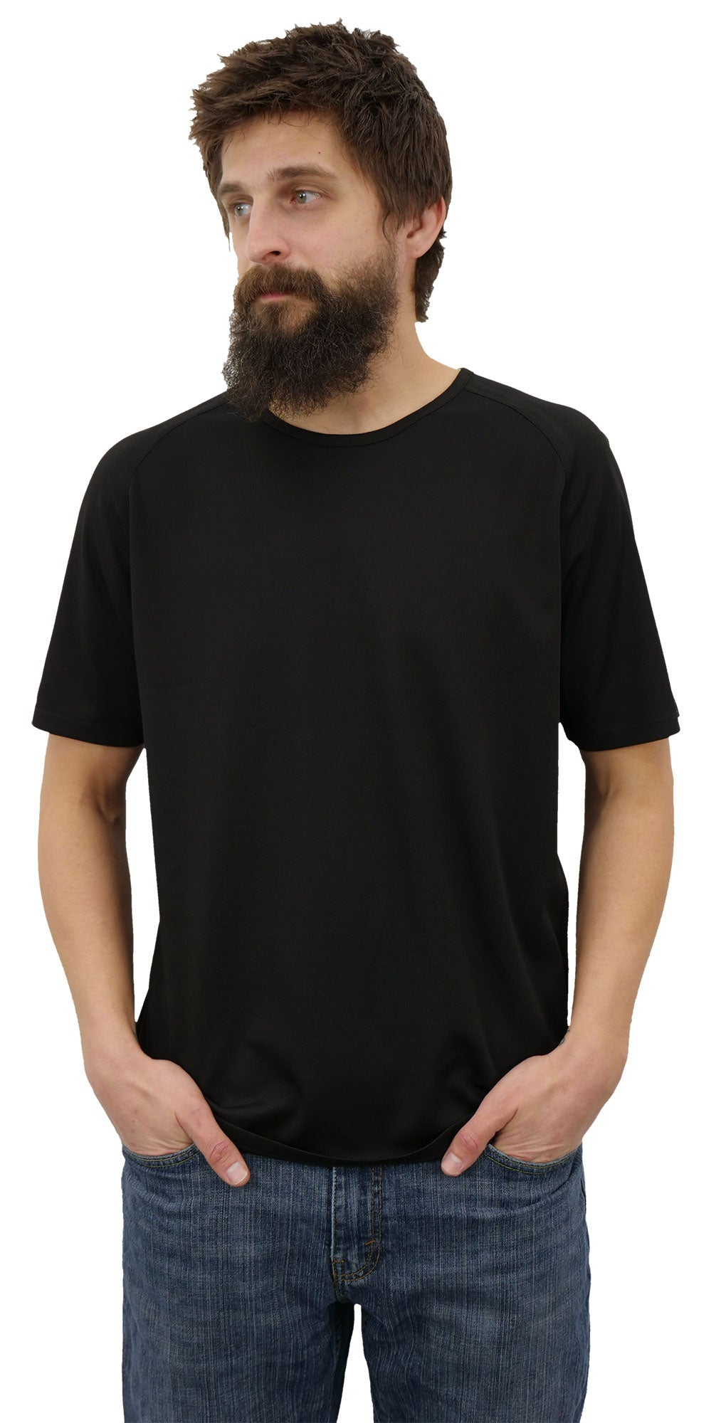 2000 Series Black 100% Polyester DTG Ready To Print Shirt