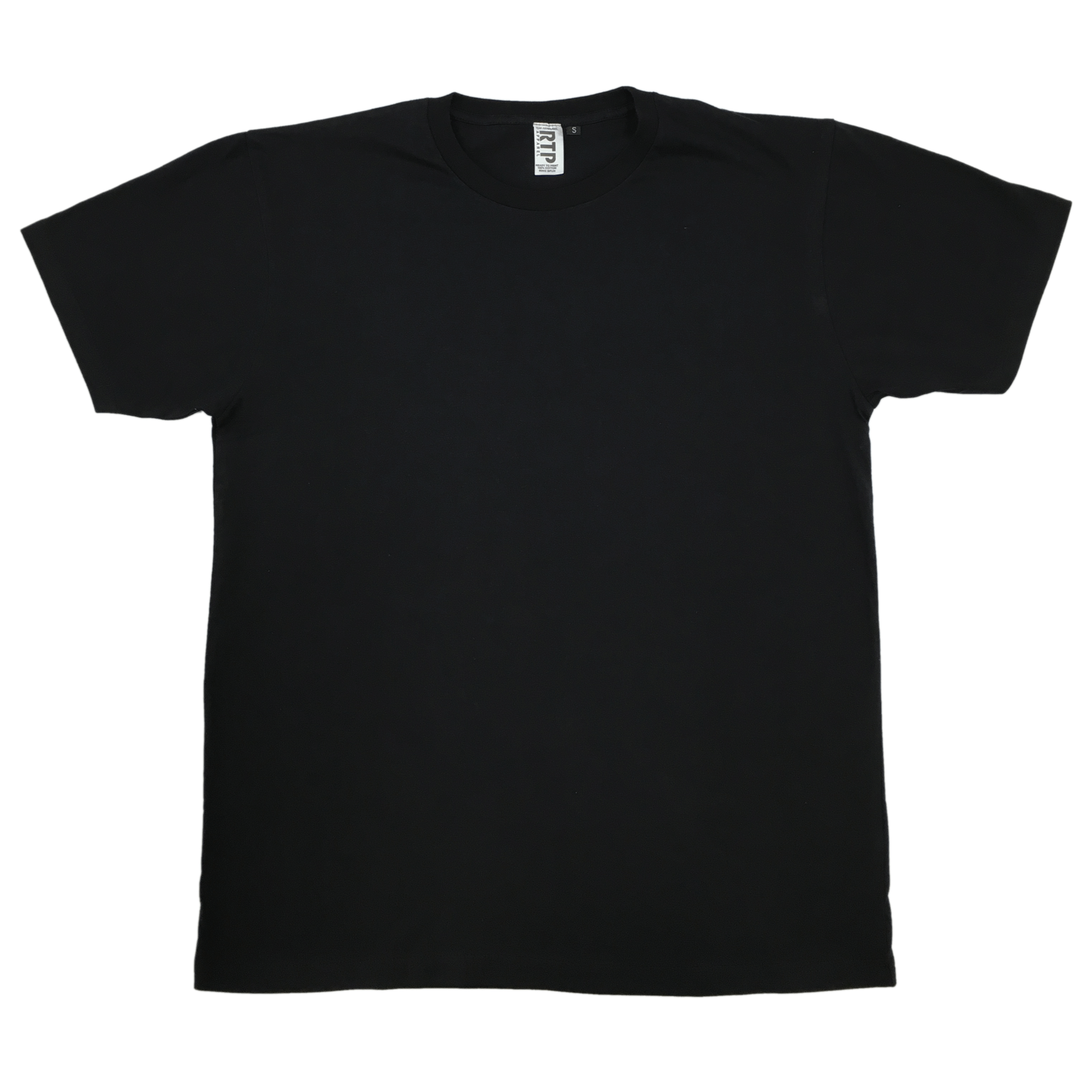 Style 1600 - BLACK - DTG Ready To Print Crew Neck T-Shirt