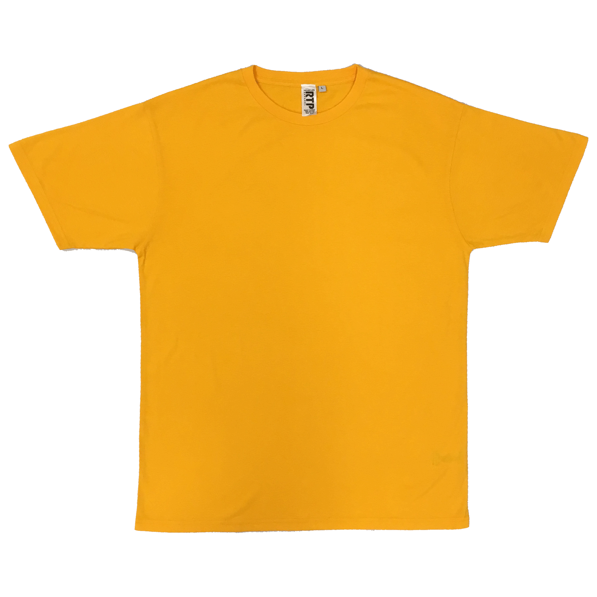Gold - 1600 - DTG Ready To Print Crew Neck T-Shirt