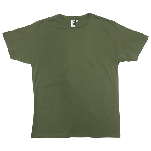Style 1600 - OD Green - DTG Ready To Print Crew Neck T-Shirt