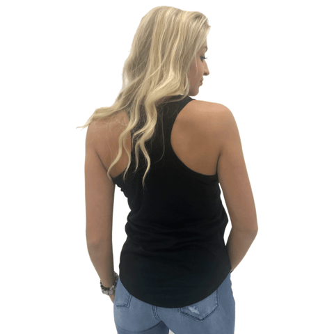 BLACK - 1460 - Women's DTG Ready To Print Racerback Tank Top