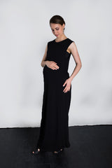MATRON SAINT the activist maternity maxi dress black 135
