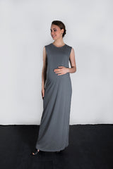 MATRON SAINT the activist maternity maxi dress charcoal 135