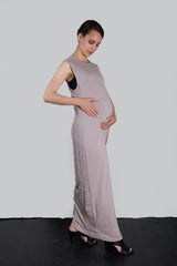 MATRON SAINT the activist maternity maxi dress dusty rose 135