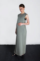 MATRON SAINT the activist maternity maxi dress sage 135