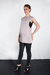 MATRON SAINT the conqueror maternity muscle tank dusty rose 105