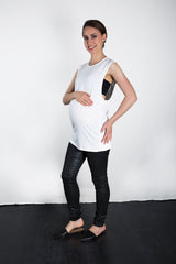 MATRON SAINT the conqueror maternity muscle tank white 105