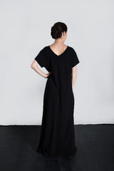 MATRON SAINT the founder maternity maxi dress black 136