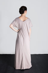 MATRON SAINT the founder maternity maxi dress dusty rose 136