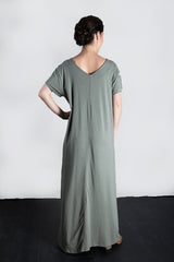 MATRON SAINT the founder maternity maxi dress sage 136
