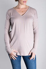 MATRON SAINT the innovator maternity long-sleeve cutout top dusty rose 102