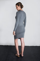 MATRON SAINT the majesty maternity long-sleeve crew dress charcoal 134