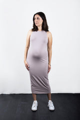 MATRON SAINT the monarch maternity racerback tank dress dusty rose 100