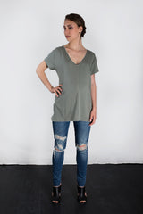 MATRON SAINT the premier maternity short-sleeve v-neck top sage 130