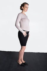 MATRON SAINT the royal maternity long-sleeve crew top dusty rose 111