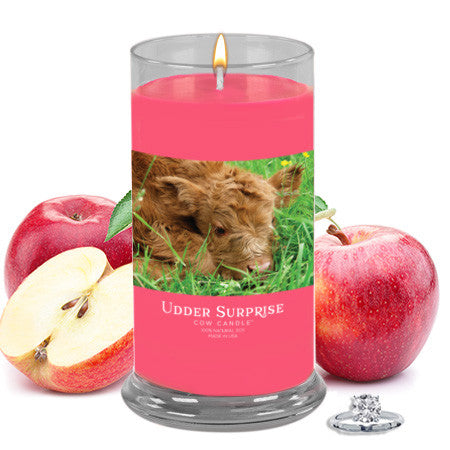 Baked Apple Pie Jewelry Cow Candle